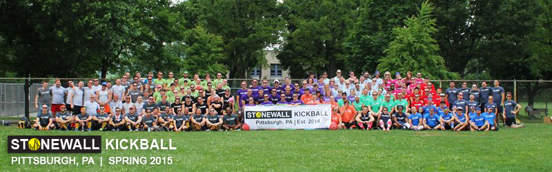 Stonewall Sports Pittsburgh League Photo Kickball Spring 2015