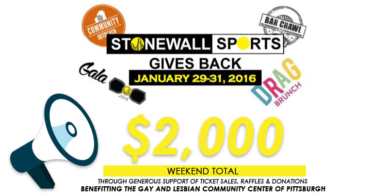 Stonewall Gives Back $2000