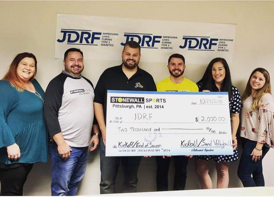 Stonewall Pittsburgh JDRF Donation