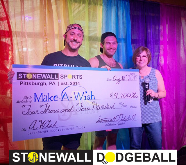 Dodgeball MakeAWish Donation 2019